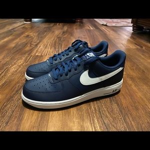 NIKE AIR FORCE 1 LOW MIDNIGHT NAVY 488298-436 MENS